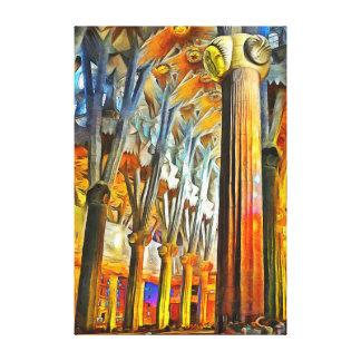 Die Magie des Sagrada Familia Leinwanddruck