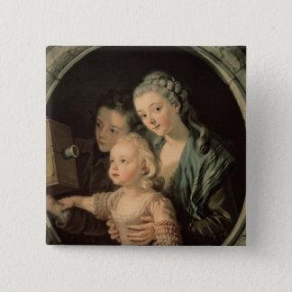 Die magische Laterne, 1764 Quadratischer Button 5,1 Cm