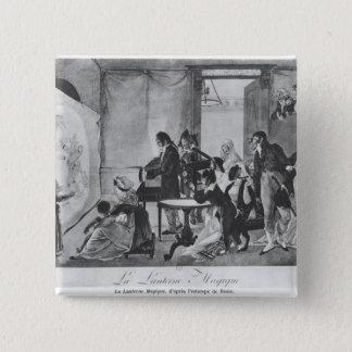 Die magische Laterne, 1798 Quadratischer Button 5,1 Cm