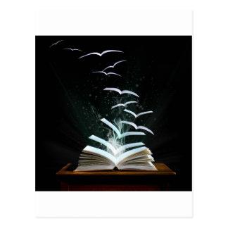 Die magische Welt der Lesung Postkarte
