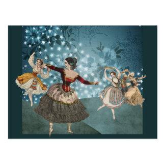 Die magischen Wald-und Tanzen-Sinti und Roma Postkarte