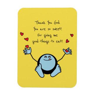 Die Mahlzeit-Gebet blaue Emoji Kinder Magnet