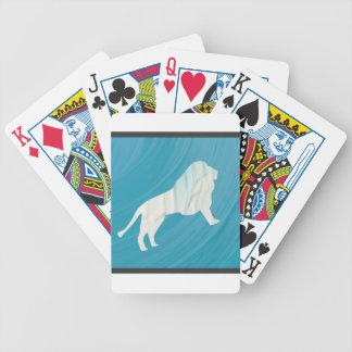 Die Majestät 1 des Löwes [gerahmt \ Bicycle Spielkarten
