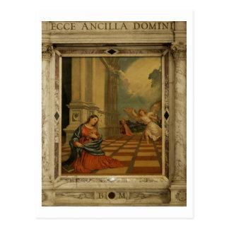 Die Malchiostro Ankündigung, c.1520 (Öl auf Platte Postkarte