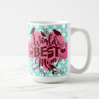 Die Mamma-Mutter-Tagestypographie-Tupfen der Welt Tasse