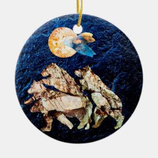 Die Mandarine-Mond des Bären Keramik Ornament