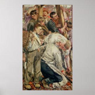 Die Männer, links Platte vom Alter der Arbeitskraf Poster