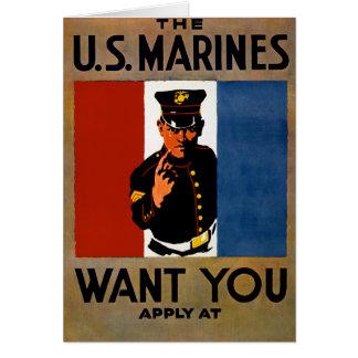 Die Marinesoldaten wollen Sie Karte