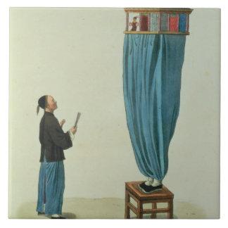 Die Marionetten, graviert von Fräulein. Formentin, Große Quadratische Fliese