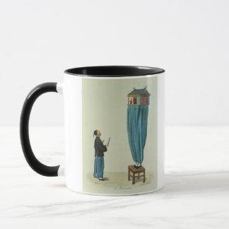 Die Marionetten, graviert von Fräulein. Formentin, Tasse