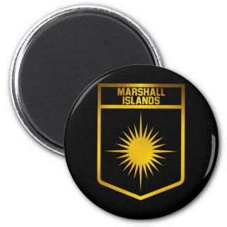 Die Marshallinseln-Emblem Runder Magnet 5,7 Cm