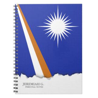 Die Marshallinseln-Flagge Notizblock