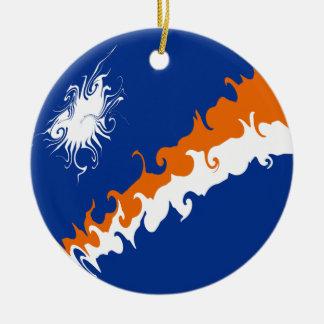 Die Marshallinseln-Gnarly Flagge Rundes Keramik Ornament