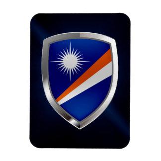 Die Marshallinseln-metallisches Emblem Magnet