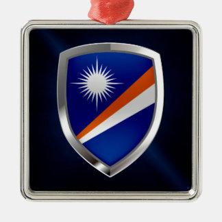 Die Marshallinseln-metallisches Emblem Silbernes Ornament