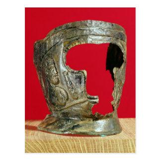 Die Maske des Gallo-Römischen Gladiators Postkarte