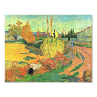 Die Masse von Arles durch Gauguin Paul (beste 10,8 X 14 Cm Einladungskarte