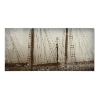 Die Mast-Segelboot-Boots-Seeplakat des Schiffs Poster