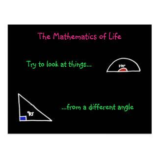 Die Mathematik der Leben-Postkarte