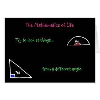 """""""Die Mathematik des Lebens"""" Karte"""