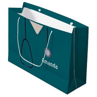 Die medizinische Krankenschwester scheuert Große Geschenktüte