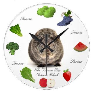 Die Meerschweinchen-Abendessen-Uhr Wanduhren