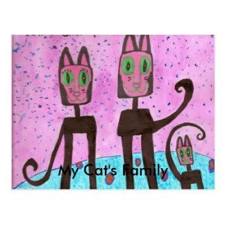 Die meine Familie der Katze getan durch Simo Postkarte