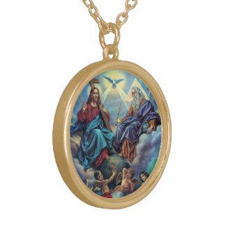 Die meiste Heilige Dreifaltigkeit Halskette Mit Rundem Anhänger