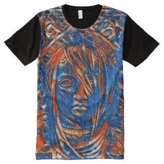 Die meiste populärer Göttin-Geist-Acrylfarbe T-Shirt Mit Komplett Bedruckbarer Vorderseite