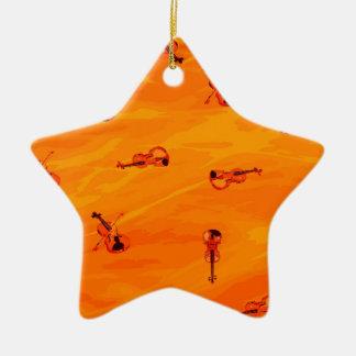 Die Melodie der Liebe: Violinen-Muster Keramik Ornament
