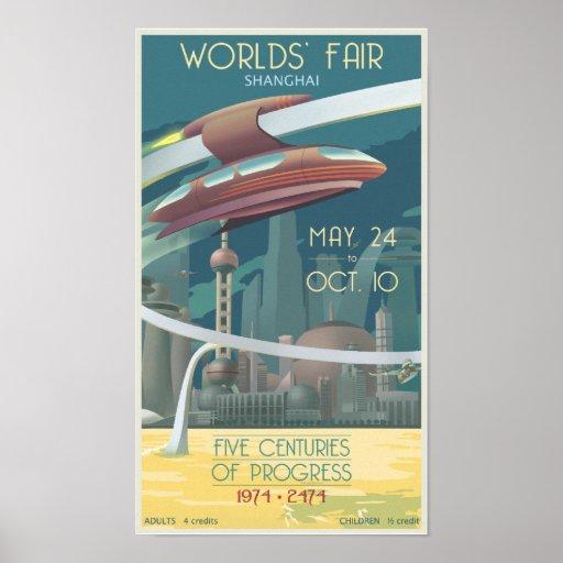 Die Messe der Welten Shanghai Plakat