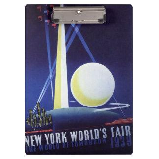 Die Messe New- York Citywelt im Jahre 1939, Klemmbrett
