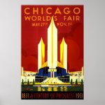 Die Messe-Vintage Reise Chicago-Welt Plakatdrucke