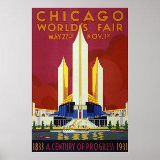 Die Messe-Vintage Reise Chicago-Welt Poster