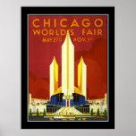 Die Messe-Vintages Reise-Plakat Chicago-Welt