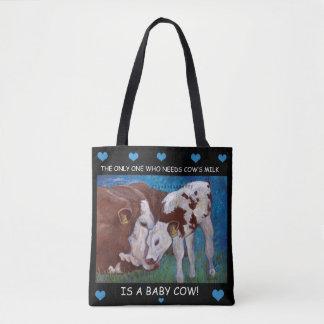 Die Milch der Baby-Kuhbedarfsmammas vegane Tasche