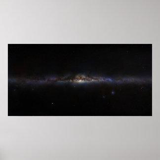 Die Milchstraße-Galaxie wie im Himmel der Planete Plakatdruck