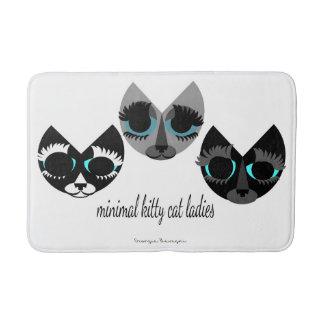 Die minimalen Miezekatze-Katzen-Damen Badematte