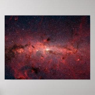 Die Mitte der Milchstraße-Galaxie Posterdrucke