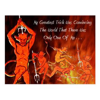 Die Mitteilung des Teufels Postkarte