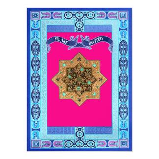 Die mittelalterliche Wedding Art-Ostmuster lädt 14 X 19,5 Cm Einladungskarte