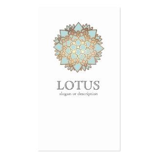 Die Mode-Butike-Weiß der eleganten Lotos-Frauen Visitenkartenvorlage