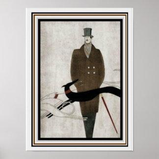 Die Mode-Plakat 12 x 16 der Kunst-Deko-Männer Poster
