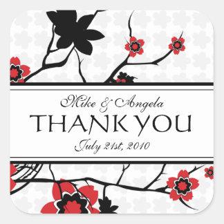 Die moderne Kirschblüte danken Ihnen Aufkleber