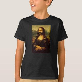 Die Mona Lisa der Kinder Schnurrbart-lustiges T-Shirt