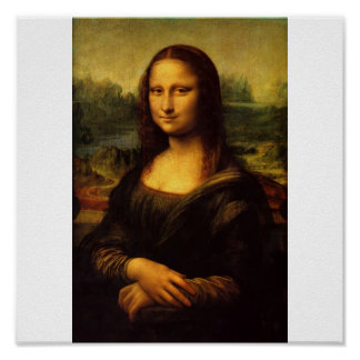 Die Mona Lisa durch Leonardo da Vinci C. 1503-1505 Poster