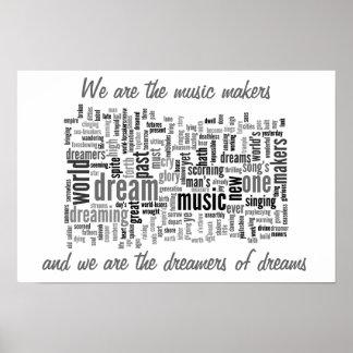 Die Musik-Hersteller Plakate