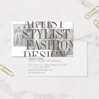 Die mutige und Vintage Stylist-Designer-Karte Visitenkarte