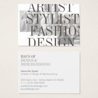 Die mutiger und Vintager Stylist-Designer-GROSSE Visitenkarte
