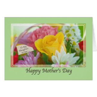 Die Mutter-Tageskarte der Schwiegertochter mit Karte
